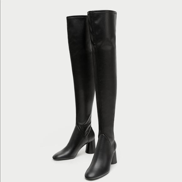 1d7b5c1e48a Zara over the knee boots NEW w tag size 8. 3 inch